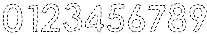 DJB Hand Stitched Alpha Font OTHER CHARS