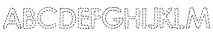 DJB Hand Stitched Alpha Font UPPERCASE