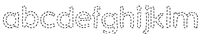 DJB Hand Stitched Alpha Font LOWERCASE