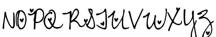 DJB Heart Attack Font UPPERCASE