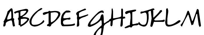 DJB HeatherG Font UPPERCASE