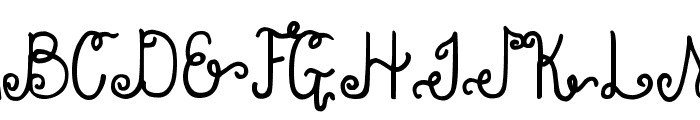 DJB Holly Enchanted Font UPPERCASE