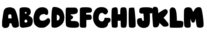 DJB Hunky Chunk Font UPPERCASE