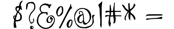 DJB I Love a Ginger Font OTHER CHARS