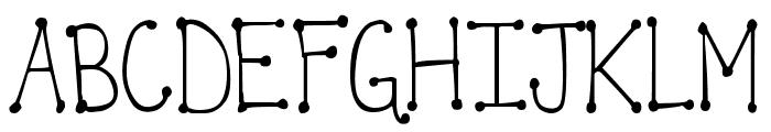 DJB It's Full of Dots Straight Font UPPERCASE