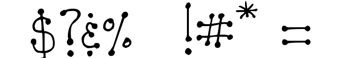 DJB  It's Full of Dots Font OTHER CHARS