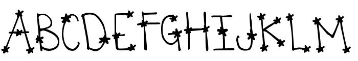 DJB  It's Full of Stars Font UPPERCASE