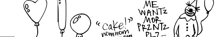 DJB It's My Birthday Font LOWERCASE
