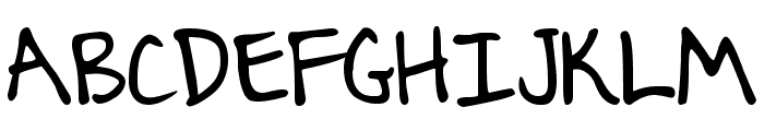 DJB Journaling Font Font UPPERCASE