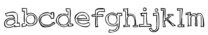 DJB Just an Outty Font LOWERCASE