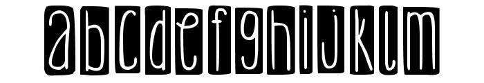 DJB Lemon Head Blocked Bold Font LOWERCASE