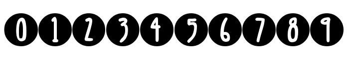 DJB Lemon Head Dots Font OTHER CHARS