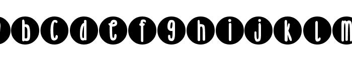 DJB Lemon Head Dots Font UPPERCASE