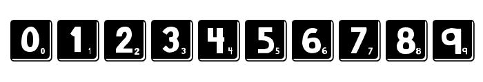 DJB Letter Game Tiles 3 Font OTHER CHARS