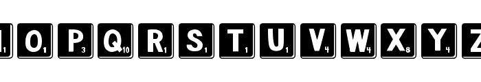 DJB Letter Game Tiles 3 Font UPPERCASE