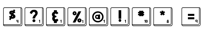 DJB Letter Game Tiles Font OTHER CHARS