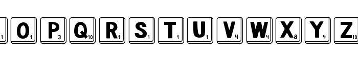 DJB Letter Game Tiles Font UPPERCASE