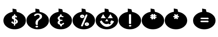 DJB Linus' Pumpkin 2 Font OTHER CHARS