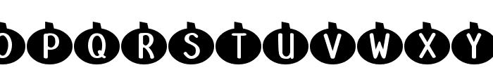 DJB Linus' Pumpkin 2 Font UPPERCASE