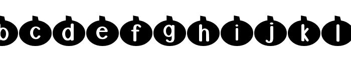 DJB Linus' Pumpkin 2 Font LOWERCASE