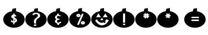 DJB Linus' Pumpkin Font OTHER CHARS