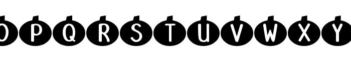 DJB Linus' Pumpkin Font UPPERCASE