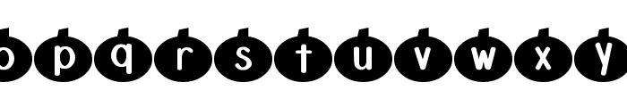 DJB Linus' Pumpkin Font LOWERCASE