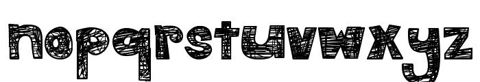 DJB Mess in My Head Bold Font LOWERCASE