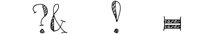 DJB Monkey Scratches Font OTHER CHARS