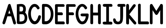 DJB Number 2 Pencil Bold Font UPPERCASE