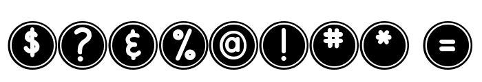 DJB Pokey Dots Font OTHER CHARS