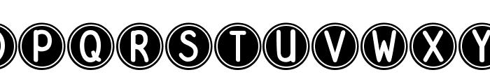 DJB Pokey Dots Font UPPERCASE