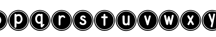 DJB Pokey Dots Font LOWERCASE