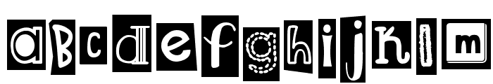 DJB Ransom Note Clipped Font LOWERCASE