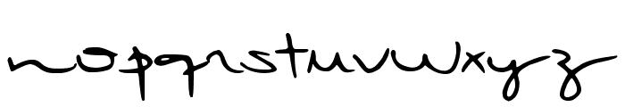 DJB Rubia's Tiny Script Font UPPERCASE