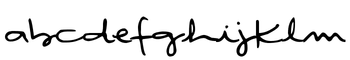 DJB Rubia's Tiny Script Font LOWERCASE