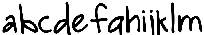 DJB SNARKY BESS Straight Font LOWERCASE