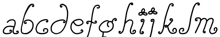 DJB SQUIRLY Q Font LOWERCASE