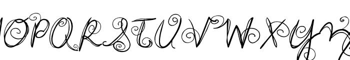 DJB SWIRL ME AROUND Font UPPERCASE