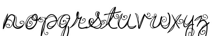 DJB SWIRL ME AROUND Font LOWERCASE