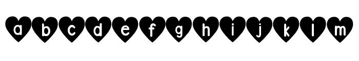DJB Shape Up Hearts Font LOWERCASE