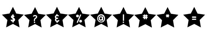 DJB Shape Up Stars Font OTHER CHARS