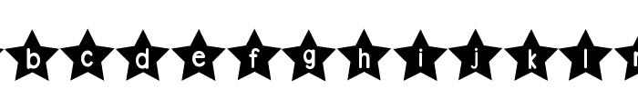 DJB Shape Up Stars Font LOWERCASE