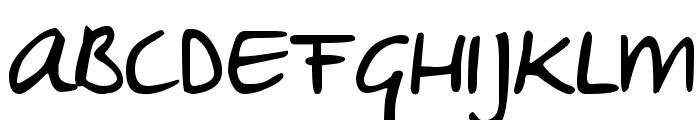 DJB Sheldon's Girlfriend Font UPPERCASE