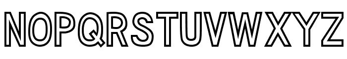 DJB Speak Out Font UPPERCASE