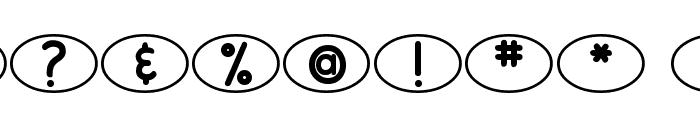 DJB Standardized Test Oval 2 Font OTHER CHARS