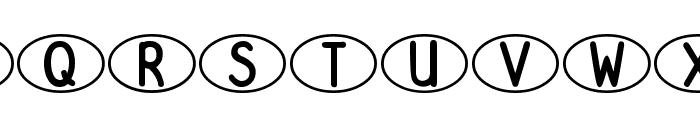 DJB Standardized Test Oval 2 Font UPPERCASE