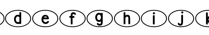 DJB Standardized Test Oval 2 Font LOWERCASE