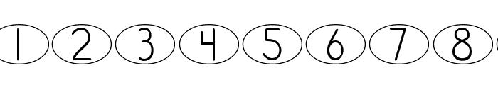 DJB Standardized Test Oval Font OTHER CHARS