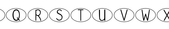 DJB Standardized Test Oval Font UPPERCASE